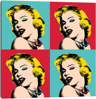 Marilyn Monroe Pop Art Canvas Art Print