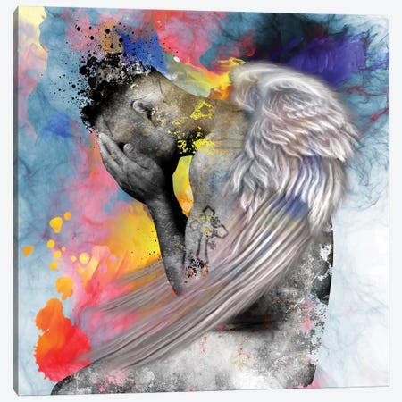 Angel Man Canvas Print #MKH6} by Mark Ashkenazi Canvas Artwork