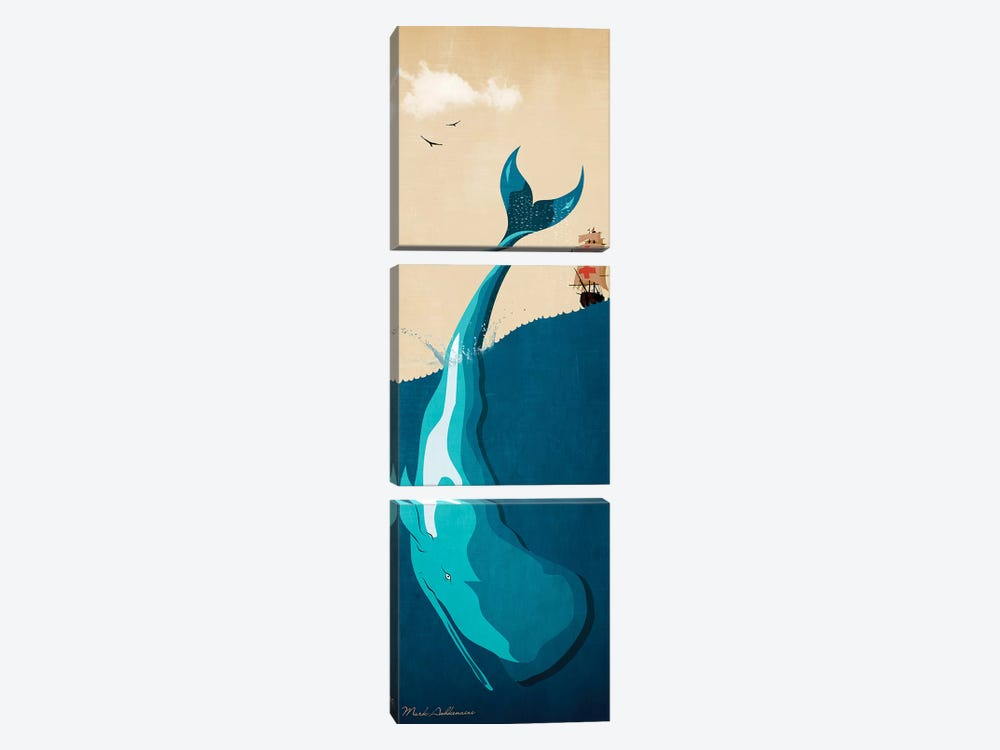 Moby Dick I by Mark Ashkenazi 3-piece Canvas Wall Art