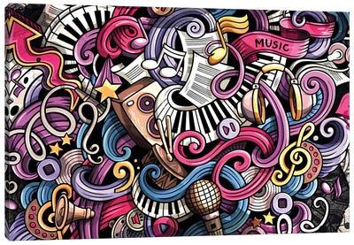 Music Graffiti Canvas Art Print