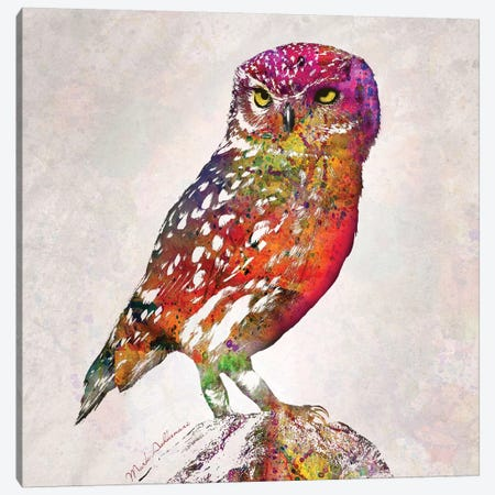 Owl Canvas Print #MKH84} by Mark Ashkenazi Canvas Wall Art