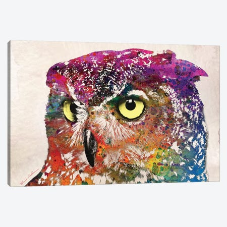 Owl II 3-Piece Canvas #MKH85} by Mark Ashkenazi Canvas Wall Art