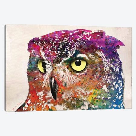 Owl II Canvas Print #MKH85} by Mark Ashkenazi Canvas Wall Art