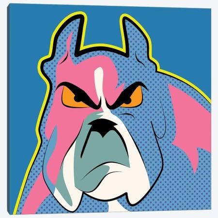 Pop Art Bulldog Canvas Print #MKH90} by Mark Ashkenazi Canvas Wall Art
