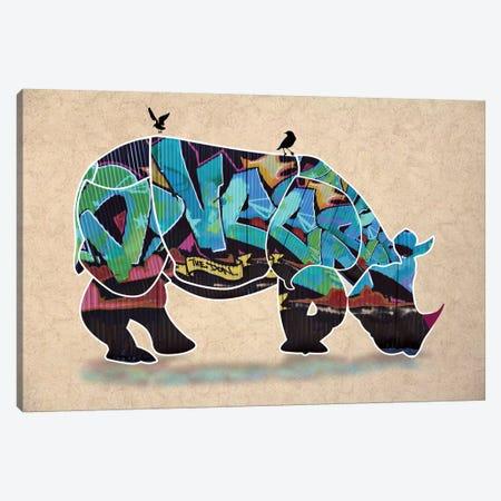Rhino II Canvas Print #MKH93} by Mark Ashkenazi Canvas Artwork