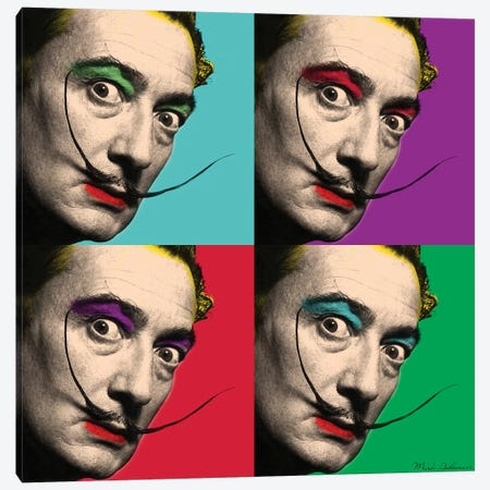 Salvador Dali II Canvas Print #MKH97} by Mark Ashkenazi Art Print