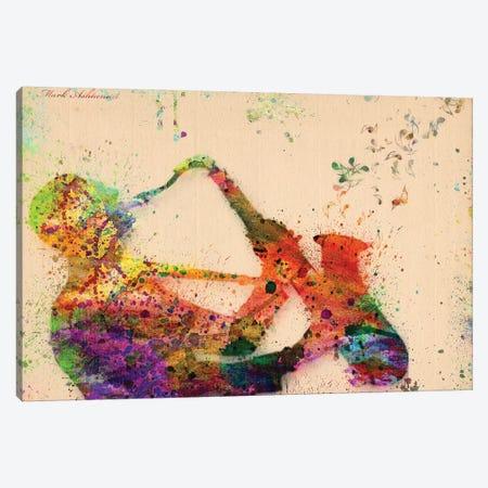 Saxophone Canvas Print #MKH98} by Mark Ashkenazi Canvas Art