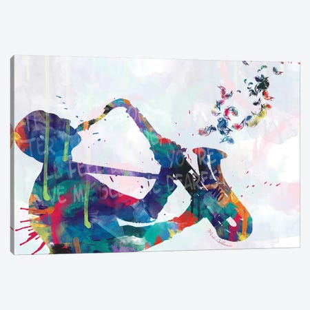 Sax-Player Saxophone Canvas Print #MKH99} by Mark Ashkenazi Canvas Wall Art