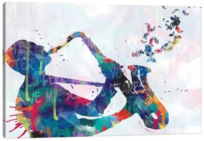 Sax-Player Saxophone Canvas Art Print