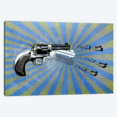 Bang Blue/Green Canvas Print #MKH9} by Mark Ashkenazi Canvas Art Print