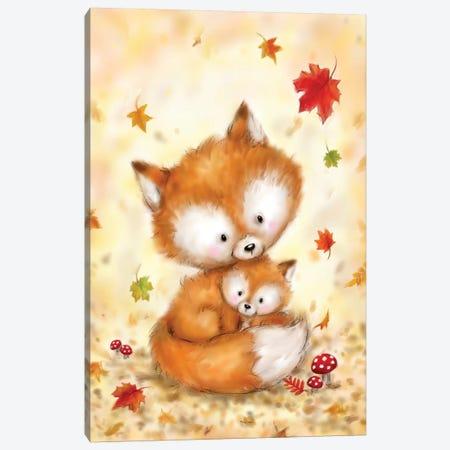 Fox II Canvas Print #MKK100} by MAKIKO Canvas Artwork