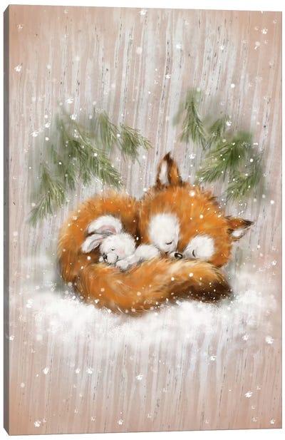Fox And Rabbit II Canvas Art Print