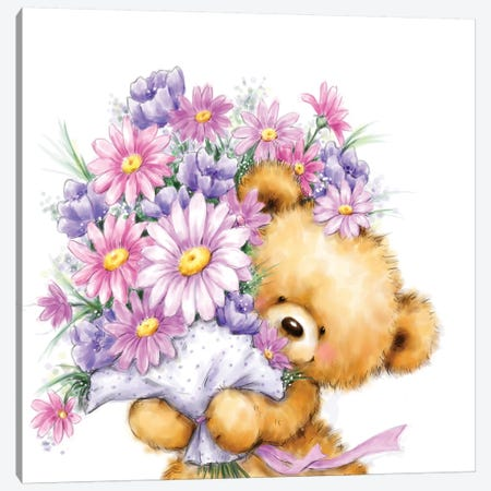 Mother s Day Bear Canvas Print #MKK144} by MAKIKO Art Print
