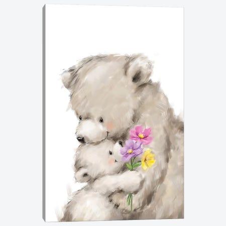 Mothers Day Bear Canvas Print #MKK145} by MAKIKO Canvas Art Print
