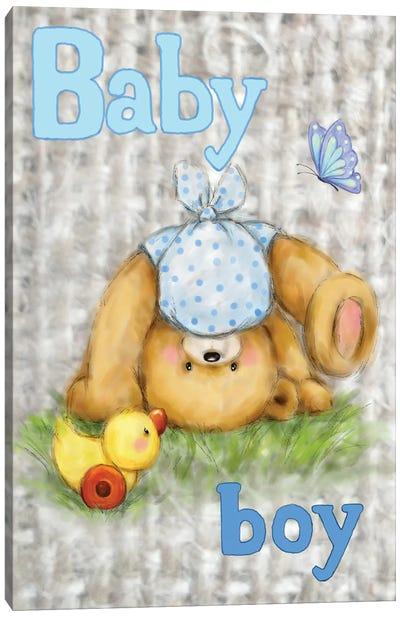 Bear Baby Boy Canvas Art Print