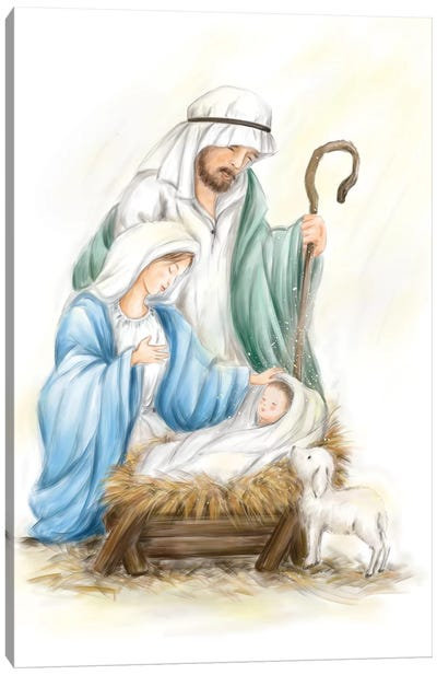 Nativity Jesus baby Canvas Art Print
