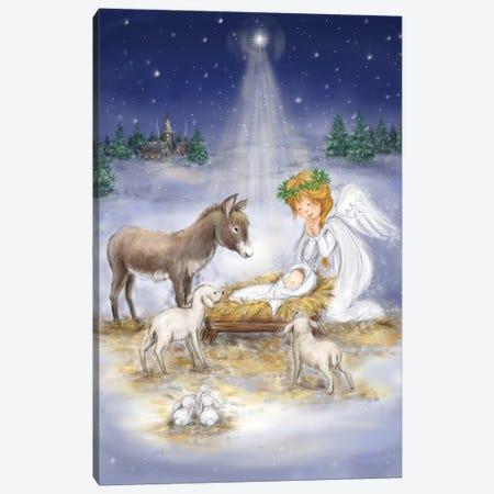 Nativity with angel Canvas Print #MKK151} by MAKIKO Art Print