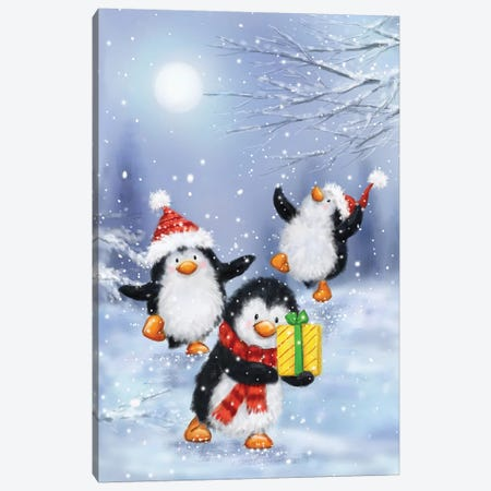 Penguins Canvas Print #MKK170} by MAKIKO Canvas Print