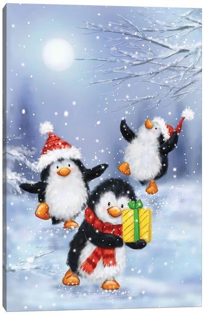 Penguins Canvas Art Print