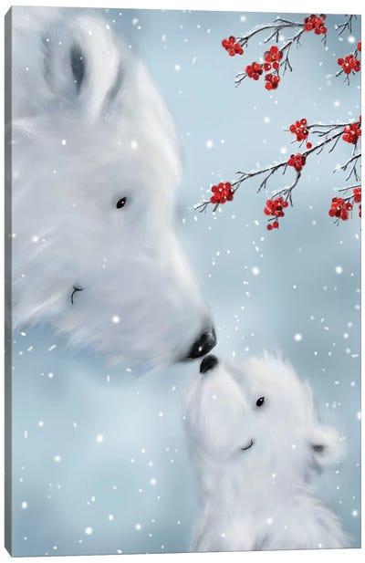 Polar Bear And Cub I Canvas Art Print