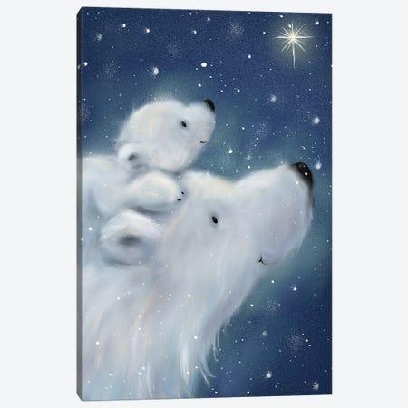Polar Bear And Cub II Canvas Print #MKK176} by MAKIKO Canvas Wall Art