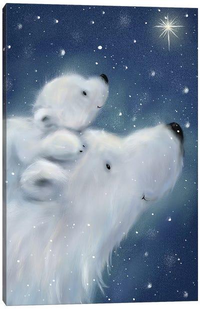 Polar Bear And Cub II Canvas Art Print