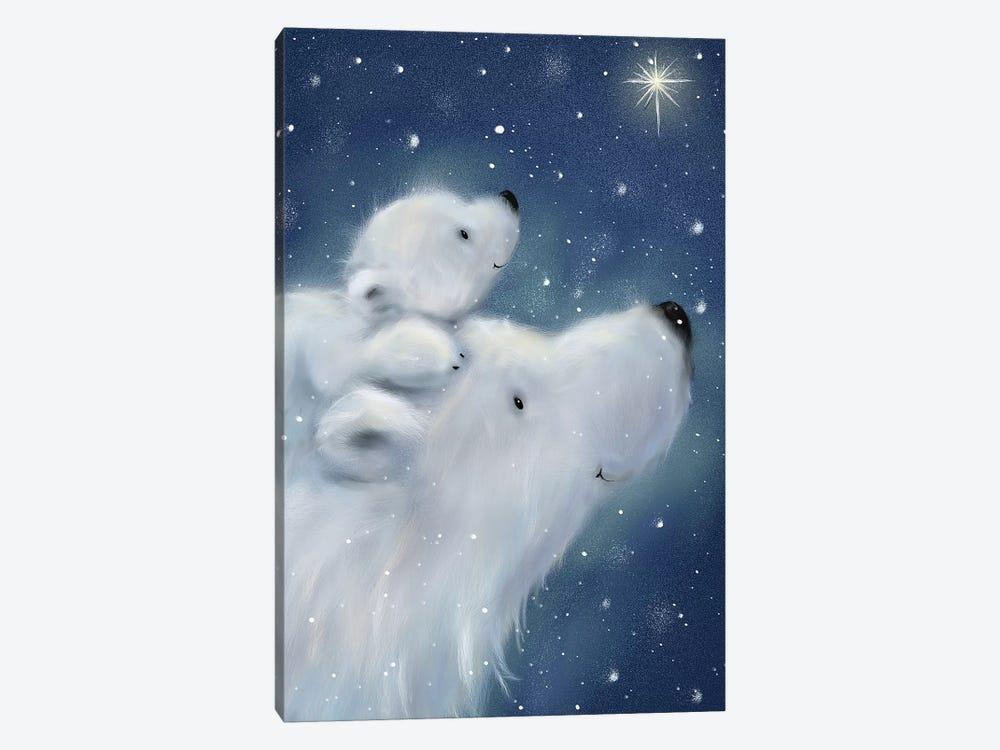 Polar Bear And Cub II by MAKIKO 1-piece Canvas Print