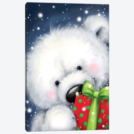 Polar Bear I Canvas Print #MKK180} by MAKIKO Canvas Artwork