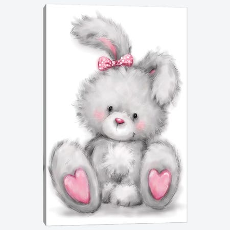 Rabbit Canvas Print #MKK187} by MAKIKO Art Print