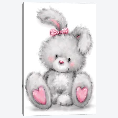 Rabbit Canvas Print #MKK187} by MAKIKO Art Print