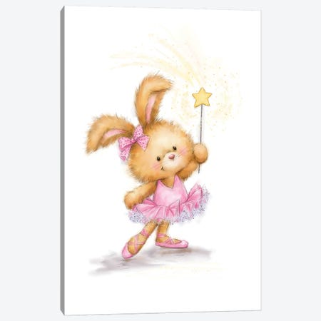 Rabbit Ballet Canvas Print #MKK189} by MAKIKO Canvas Art