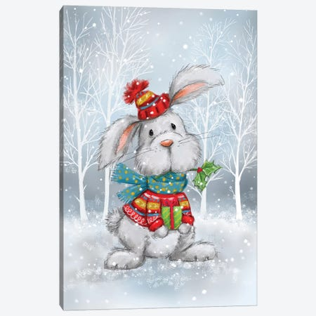 Rabbit In Wood Canvas Print #MKK191} by MAKIKO Canvas Art Print