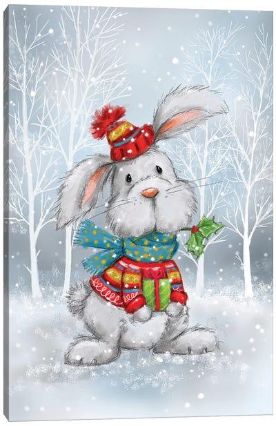 Rabbit In Wood Canvas Art Print