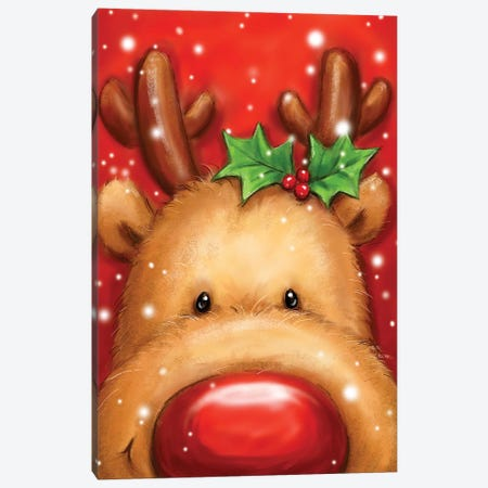 Reindeer I Canvas Print #MKK196} by MAKIKO Canvas Art
