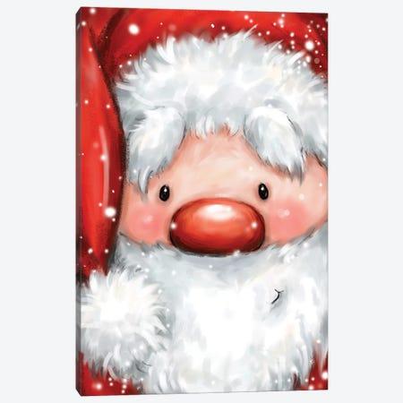 Santa Portrait Canvas Print #MKK228} by MAKIKO Canvas Art Print