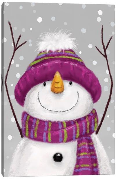 Snowman V Canvas Art Print