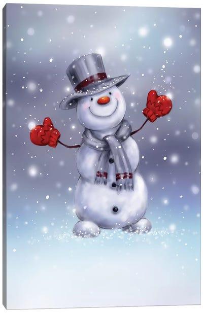 Snowman VI Canvas Art Print