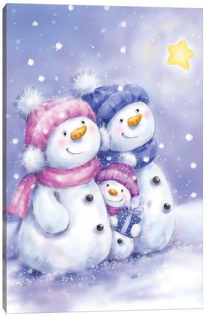 Snowman Family I Canvas Art Print