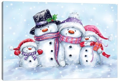 Snowman Family II Canvas Art Print