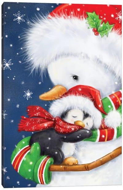 Snowman Hug Canvas Art Print