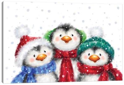 Three Penguins I Canvas Art Print