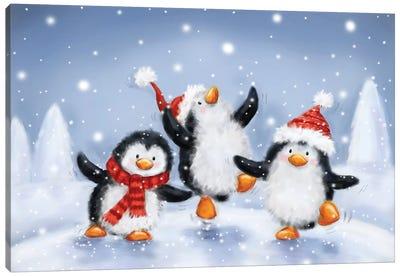 Three Penguins II Canvas Art Print