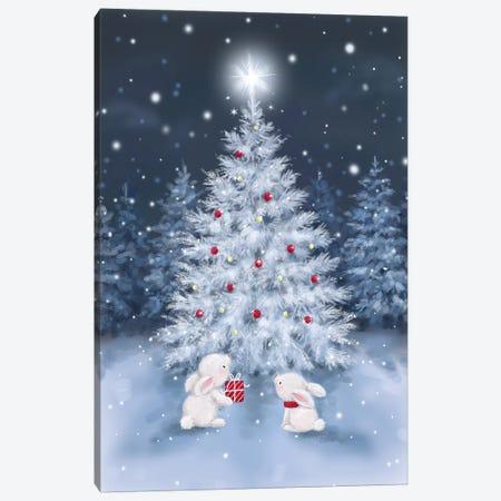 Tree With Rabbits Canvas Print #MKK313} by MAKIKO Art Print