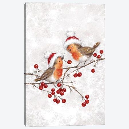 Two Robins Canvas Print #MKK330} by MAKIKO Canvas Print