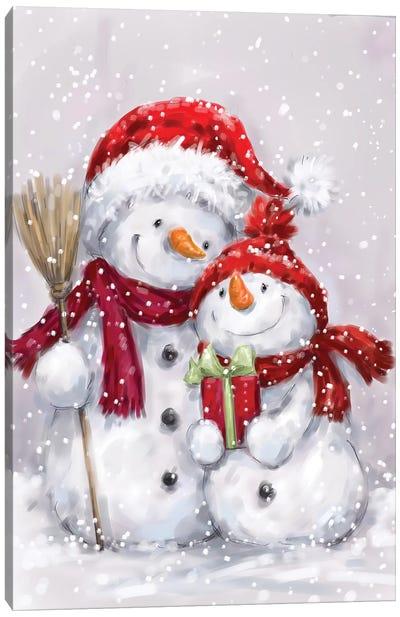 Two Snowmen I Canvas Art Print