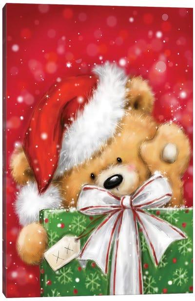 Bear with Present III Canvas Art Print