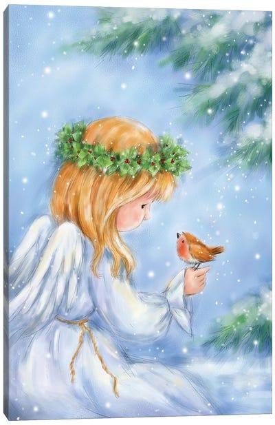 Angel and Robin Canvas Art Print