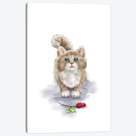Cat I Canvas Print #MKK44} by MAKIKO Art Print