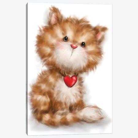 Cat II Canvas Print #MKK45} by MAKIKO Canvas Art Print