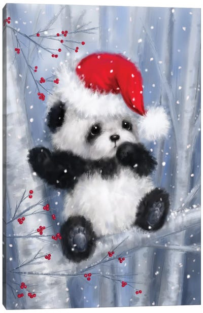 Christmas Panda Canvas Art Print